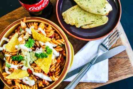 Lilos Pasta - Medium Pasta Dish with Salad, Garlic Bread and Drink - Save 23%
