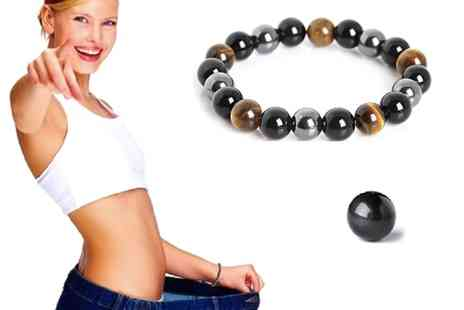 Groupon Goods Global GmbH - One, Two or Three Hematite Weight Management Magnetic Bracelets - Save 0%