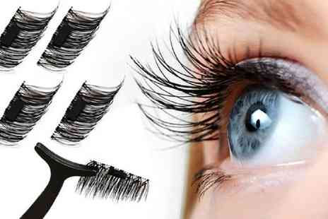Groupon Goods Global GmbH - One, Two or Three Pack of Magnetic Eyelash Extentions with Optional Tweezers - Save 0%
