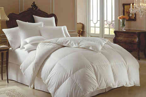 Groundlevel - Single, double, king or super king size 13.5 tog duck and down duvet - Save 67%