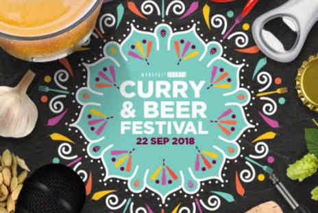 Monopoly Events - Curry & Beer Festival One or two general admission ticket or one or two VIP ticket with a Seekh kebab portion and half pint of beer or soft drink - Save 36%