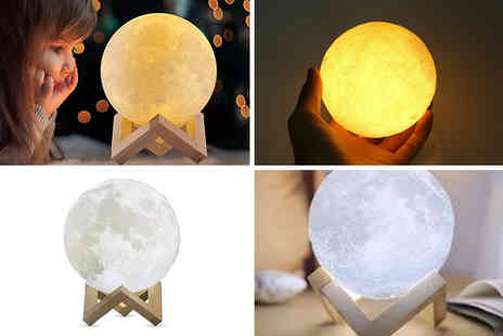 Magic Trend - Touch control Led 3D moon lamp - Save 78%