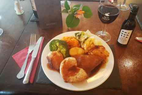 Simms Road Inn - Roast of the Day with Bottle of Wine for Two or Four - Save 32%