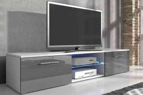 Groupon Goods Global GmbH - Samuel TV Cabinet with LED Lighting With Free Delivery - Save 0%