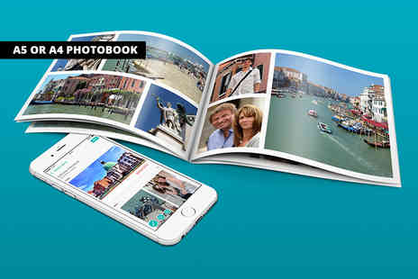 Popsa International - A5 or A4 personalised softcover photobook - Save 86%