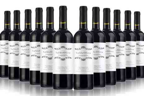 San Jamon - Six or 12 Bottles of Spanish Valdeoliva Tempranillo Red Wine - Save 0%