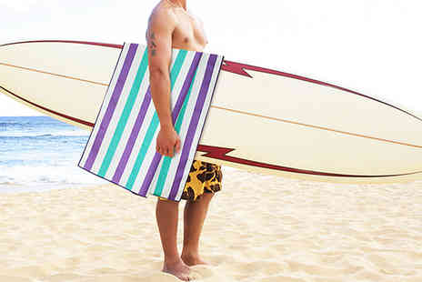 Home Season - Extra Large Quick Drying Beach Towel with Bag Choose 5 Colours - Save 60%