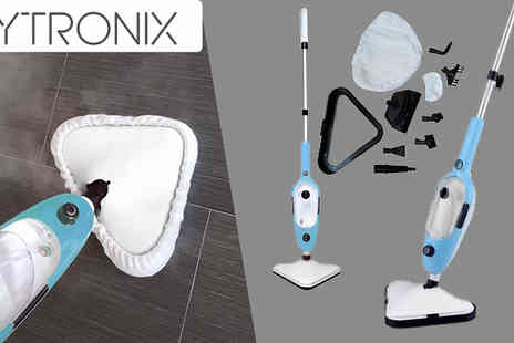 Direct Vacuums - Vytronix 10 in 1 Handheld Upright Steam Mop - Save 75%