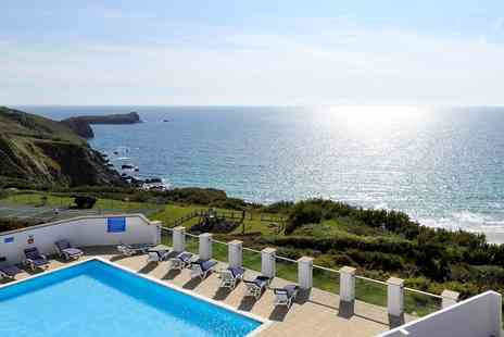Polurrian Bay Hotel - Scenic Cornwall spa day with massage & afternoon tea - Save 46%