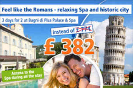 Bagni di Pisa Palace - Live like a King for 3 days in the Palace & Spa of Tuscany - Save 51%
