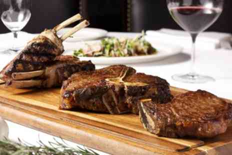 2k Steak House - Two Course Steak Meal with Glass of Wine for Two or Four - Save 60%