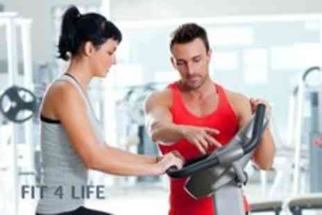 Fit 4 Life - Three personal training sessions with sport massages & a nutritional plan - Save 72%