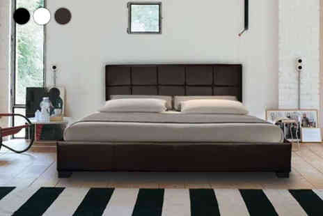 Dining Tables - Mona modern leather bed with mattress options - Save 86%