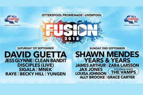 Fusion Festival - Ticket to Fusion Festival on Saturday 1st or Sunday 2nd September, see a star studded line up including David Guetta, Shawn Mendes, Jess Glynne, Years & Years and more - Save 36%