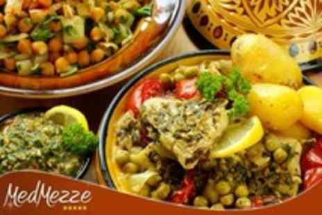 Med Mezze - Mixed Mezze Meal With Dessert and Wine For Four people - Save 63%