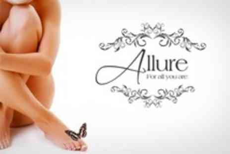 Allure - Luxury Pedicure and Half Leg Wax - Save 60%
