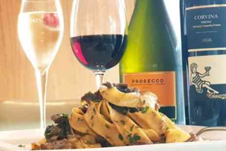 Spaghetti Johns - Two Course Italian Meal with Wine or Prosecco for Two or Four - Save 48%
