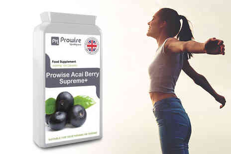 Prowise Healthcare - Three month supply of acai berry supreme plus capsules - save 70% - Save 70%