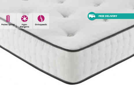 Giomani Designs - Double, king or super king size 10 inch tufted 1550 pocket spring mattress - Save 83%