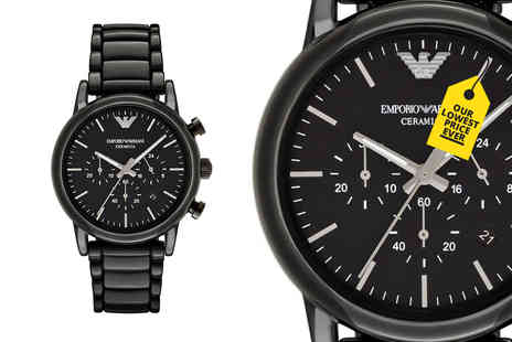 Hip Watches - Mens Emporio Armani AR1507 ceramic watch - Save 70%