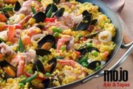 Mojo Bar and Tapas - Paella, Dessert and Wine For Four - Save 64%