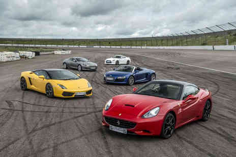 Supercar Drive Days - Three lap supercar driving experience with a passenger hot lap - Save 50%