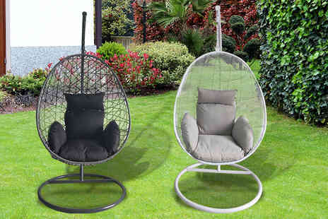 Hirix - Woven rattan egg chair cushion included - Save 70%