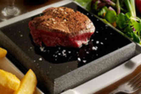 Steakhouse - Volcanic rock grilled steak for two plus side dishes and wine - Save 62%