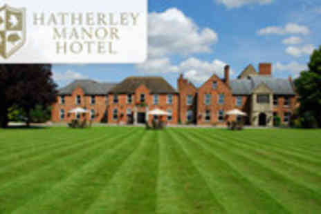 Hatherley Manor - Cotswolds getaway for two including evening meal, breakfast and afternoon cocktails - Save 59%