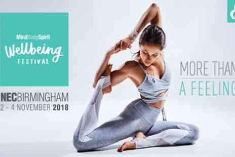 Mind Body Spirit - Two day tickets to the Mind Body Spirit Festival on 2 To 4 November - Save 55%
