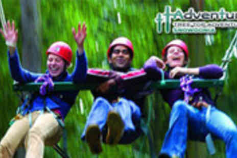 Tree Top Adventure - Exhilarating Sky Ride for two people - Save 53%