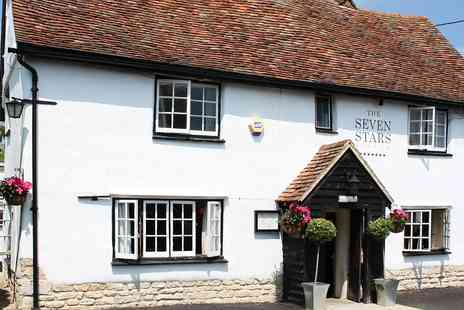 The Seven Stars - Two course meal & coffee for 2 at pretty Bucks pub - Save 47%