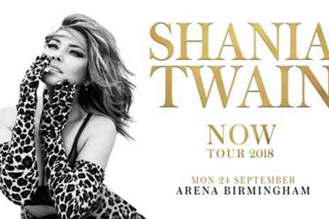 Shania Twain - One PL1, PL2 or PL3 ticket to see Shania Twain on 24 September - Save 56%