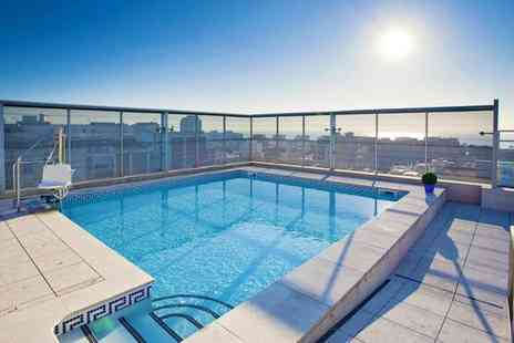Ilunion Barcelona - Four Star Modern Hotel Stay For Two with Rooftop Pool near Bogatell Beach - Save 80%