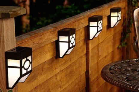 Electronic E Cig Store - Two, four or six solar fence lights - Save 75%