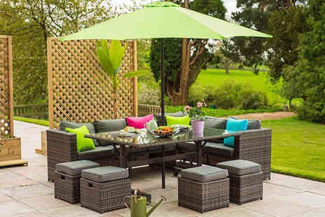 Dreams Outdoors - A 10 seater corner poly rattan sofa set - Save 41%