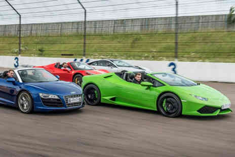 Buyagift - Four supercar driving thrill with a high speed passenger ride at your choice of 27 UK locations - Save 0%
