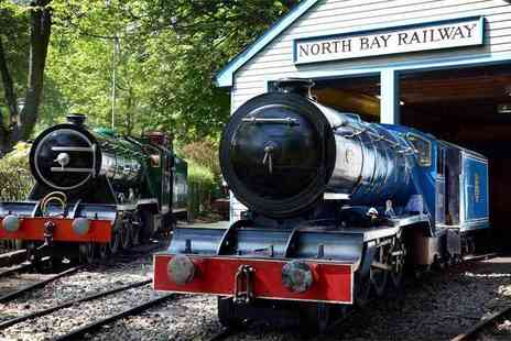 North Bay Railway - Railway pass, pedalo boat, water chute and Sky Trail Adventure ticket for one adult and one child or two adult or family ticket - Save 82%