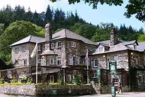 Swallow Falls Hotel - Two night Snowdonia National Park stay for two people with breakfast and cream tea - Save 50%
