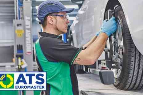 ATS Euromaster - Computerised Wheel Alignment Service for Front and Rear Wheels - Save 38%