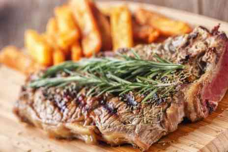 Cooks Of Stirling - Sirloin Steak Meal with Wine for Two or Four - Save 48%