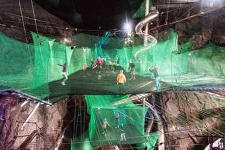 Zip World - Underground trampolining in Snowdonia for 2 - Save 30%