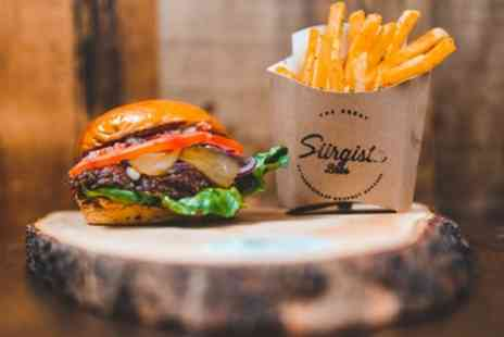 Siirgista Bros - Gourmet Burger, Fries and Choice of Drink for One or Two - Save 32%