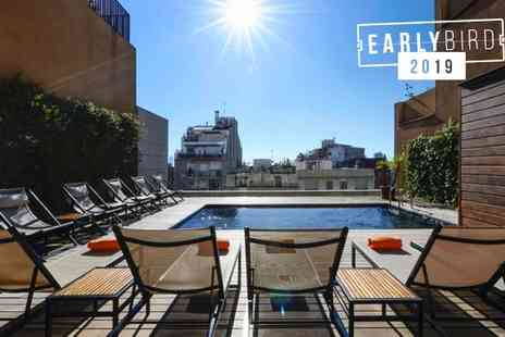 Europark Hotel - Three Star Rooftop Pool in Eixample District for two - Save 80%