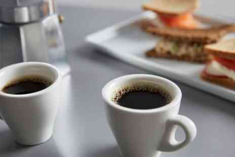 Ble Coffee Stories - Choice of Coffee with Optional Dessert Pie and Bottle of Water - Save 63%
