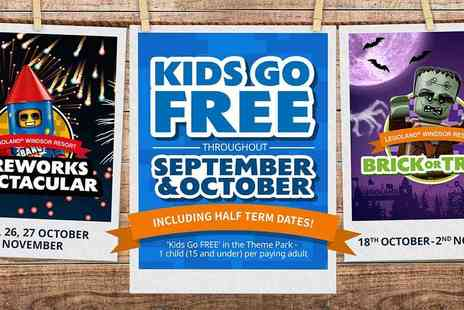 Holiday Extras - Legoland Windsor Resort Kids Go Free plus your 2nd Day Free, including October Half Term Dates - Save 0%