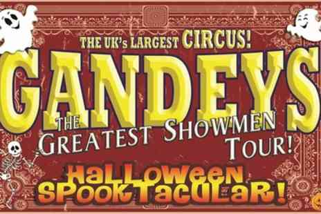 Gandeys Circus - One side view ticket to Gandeys International Thrill Circus Halloween Spooktacular on 27 To 31 October - Save 51%