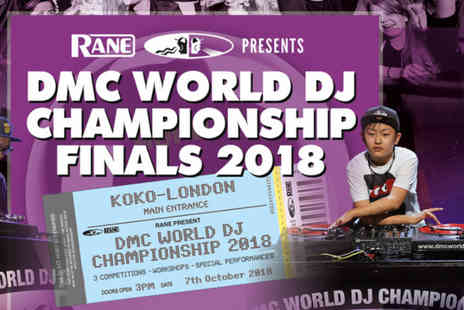DMC World - One or two ticket to DMC World DJ Championship Finals 2018 on Sun 7th October - Save 40%