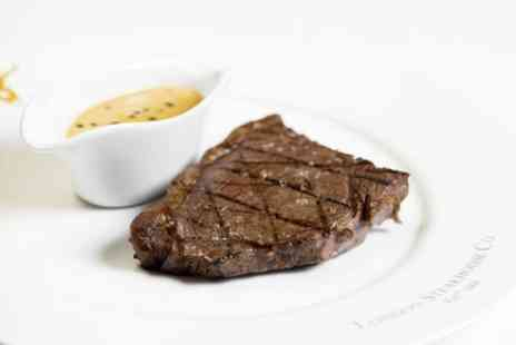 London Steakhouse Company - Three Course Dining Experience with Sides and Cocktail for Two - Save 0%
