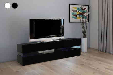 Jia Interiors - Manhattan high gloss Led Tv cabinet choose from two colours - Save 0%
